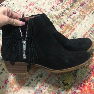 Lucky brand fringe boots
